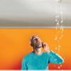 Фото.Как слить воду с натяжных потолков