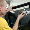 Фото.Тонировка на автомобильном стекле
